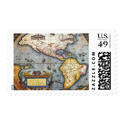 1587 Map of the Americas Stamps