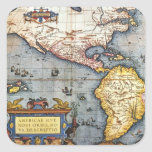 1587 Map of the Americas Sticker