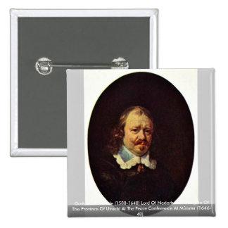 1588-1648) señores Of Nederhorst. de Godard Van Pin Cuadrada 5 Cm