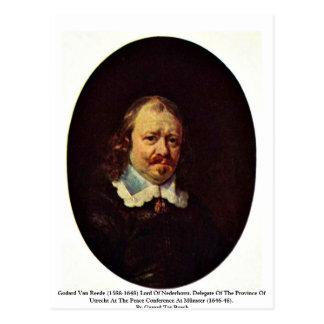 1588-1648) señores Of Nederhorst. de Godard Van Re Tarjeta Postal
