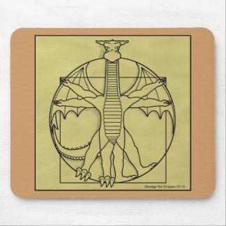 158 vitruvian dragon square, George the Dragon ... Mouse Pad