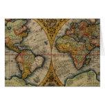 1590 world map card