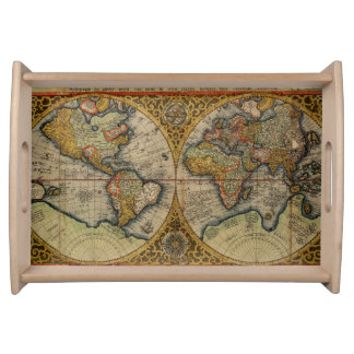 1590 world map serving tray