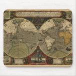 """1595 Hondius Worlde Map"" Mouse Pad"