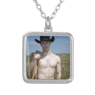15974-RA Cowboy Silver Plated Necklace