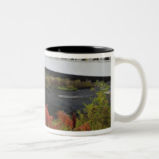 159-foot Ashuelot Covered bridge spanning Two-Tone Coffee Mug