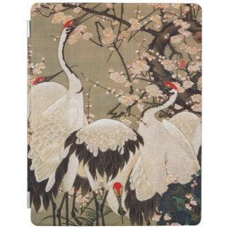 15. 梅花群鶴図, 若冲 Plum Blossoms & Cranes, Jakuchū iPad Smart Cover