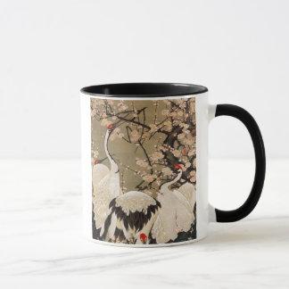 15. 梅花群鶴図, 若冲 Plum Blossoms & Cranes, Jakuchū Mug
