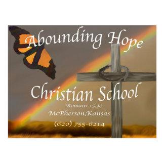 15:13 cristiano de abundancia de los romanos de la tarjetas postales