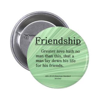 15:13 de Juan de la amistad Pin Redondo De 2 Pulgadas