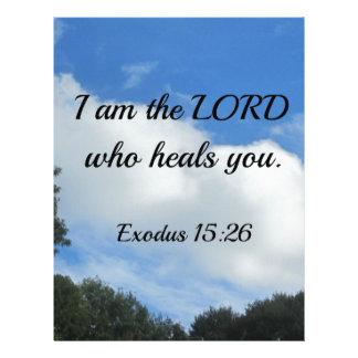 15:26 del éxodo soy el señor que le cura membrete