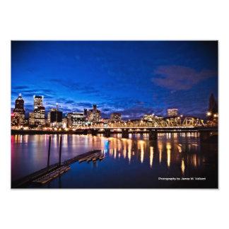 15.40 x 11 Portland Skyline at Night #1 Photo