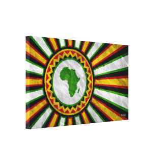 "15.9"" x 9.5"" Africa Rising Banner Wrapped Canvas Stretched Canvas Print"