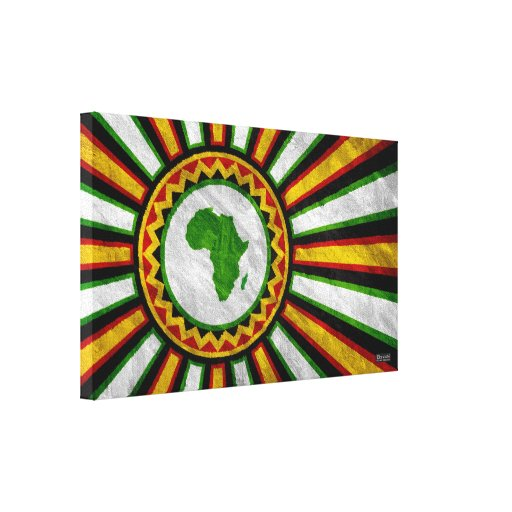 """15.9"""" x 9.5"""" Africa Rising Banner Wrapped Canvas Stretched Canvas Print"""