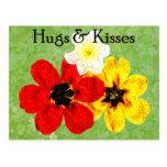 15 abrazos y besos postal