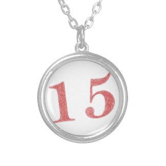 15 años de aniversario colgante redondo