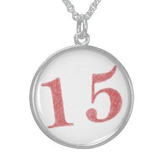 15 años de aniversario collares de plata esterlina