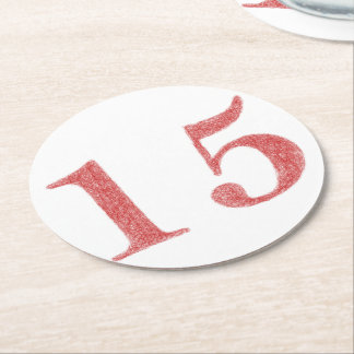 15 años de aniversario posavasos desechable redondo