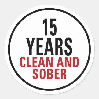 15 años limpian y calman pegatina redonda