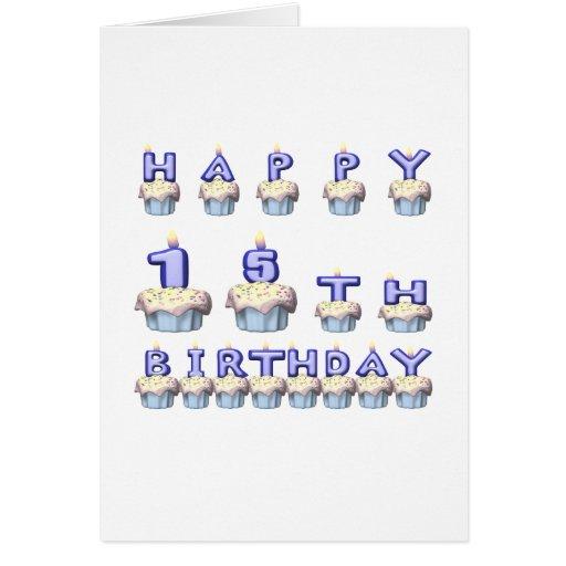15 años tarjeta de felicitación
