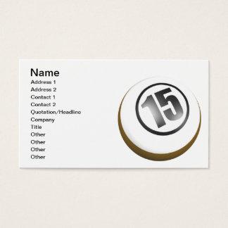 15 Ball Business Card