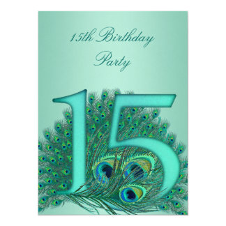 15 birthday peacock template age number