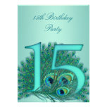 15 birthday peacock template age number custom announcement