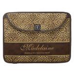 "15"" Cheetah Print and Stiletto Custom Sleeve For MacBooks"