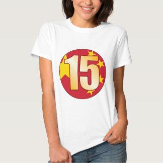 15 CHINA Gold T Shirt