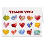 15 corazones del amor le agradecen cardar felicitación
