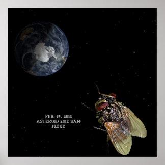 15 de febrero de 2013 poster del Flyby DA14 del as