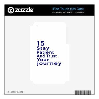 15 diseños del cumpleaños calcomanías para iPod touch 4G
