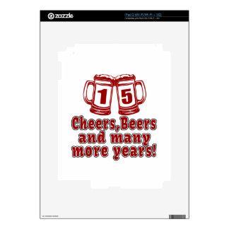 15 diseños del cumpleaños de las cervezas de las iPad 2 skins