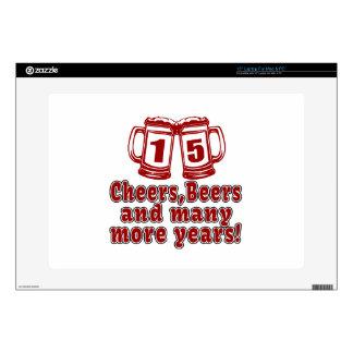 15 diseños del cumpleaños de las cervezas de las portátil calcomanía