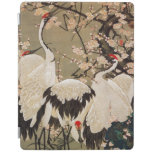 15. el 梅花群鶴図, ciruelo del 若冲 florece y las grúas, cover de iPad