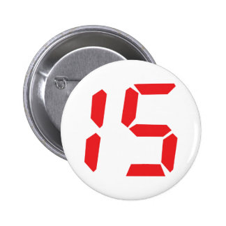 15 fifteen  red alarm clock digital number button