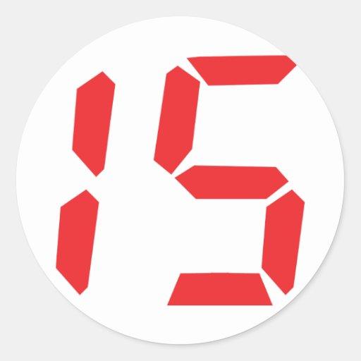 Red Digital Numbers