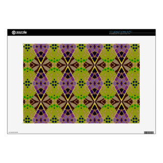 15 Inch Laptop Skin with Olive Pattern