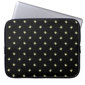 15-inch Laptop Sleeve: Lilies of the Valley, Black Computer Sleeve