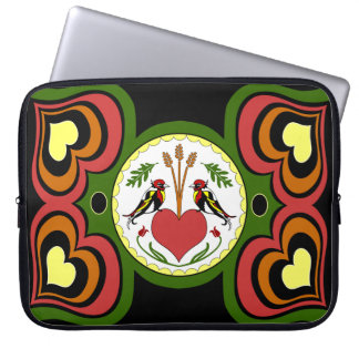 15 inch Laptop Sleeve, Long Happy Relationship Hex Laptop Sleeve