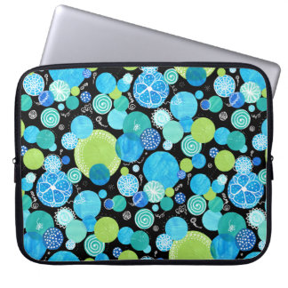 15-inch Laptop Sleeve Quirky Blue Moons Pattern