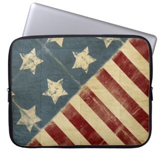 15 Inch Vintage American Flag Laptop Sleeve
