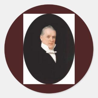 15 James Buchanan Classic Round Sticker