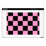 """15"""" Laptop For Mac & PC Pink and Black Checker Boa Skins For Laptops"""