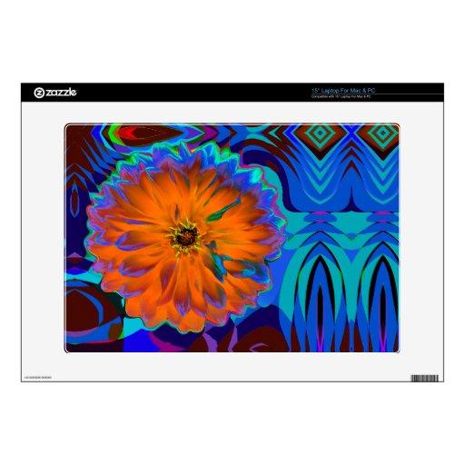 "15"" Laptop For Mac & PC pop art flower Laptop Decals"