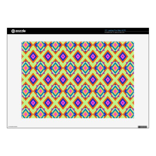 """15"""" Laptop For Mac & PC with Fun Diamond Design Decal For Laptop"""