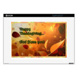 "15"" Laptop Skin - Happy Thanksgiving 2 Decals For Laptops"