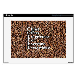 "15"" Laptop Skin Mac/PC COFFEE beans Christ Offers"