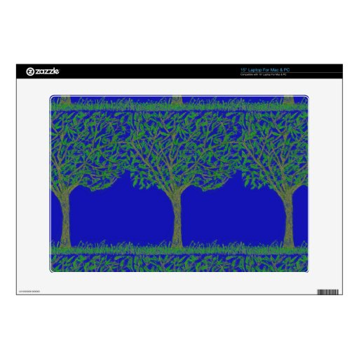 """15""""Laptop Skin -Mac & PC with Tree and Sky Design"""