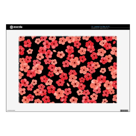 """15"""" Laptop Skin with Cherry Blossoms"""